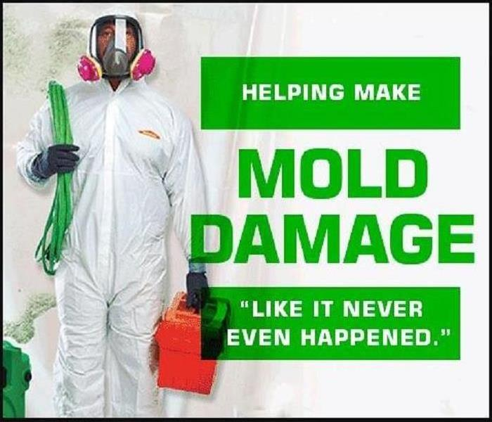 "SERVPRO helping make mold damage ""Like it never even happened."""